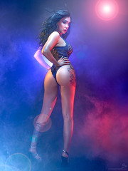 Time and Space (OwenLloyd) Tags: jg bethlouise fog gels glamour studio