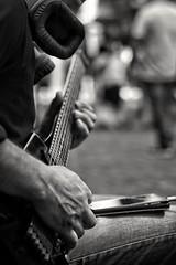 Street scales (Edwin M. Glez) Tags: street blackandwhite blancoynegro schwarzweiss music musician guadalajara mexico canon 50mm