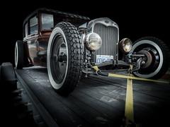HOTROD (Dave GRR) Tags: hotrod ratrod classic vintage old retro belt tow car vehicle auto show toronto cars coffee olympus