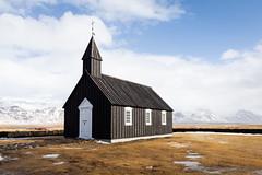 Búðakirkja (GavinZ) Tags: iceland snæfellsnes travel black church architecture landscape explore