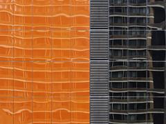 Orange (Nick Condon) Tags: architecture building chicago color olympus45mm olympusem10 orange reflection urban vent window