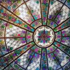 Casa Loma Dome (scilit) Tags: dome art stainedglass ceiling design vividcolors castle casaloma toronto canada building architecture historical conservatory grapevine touristdestination placestovisit travel