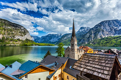 Hallstatt village, Austria (TEIA - 台灣環境資訊協會) Tags: hallstatt austria village austrian europe church austrianalps architecture belltower building countryside european home house houses idyllic mount mountain mountains nature outdoor outdoors outside pastoral placeofworship reflection religiousbuilding residence roof roofs rural ruralscene scenery serene serenity tower towers tranquil aerialview