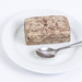 Chocolate and Vanilla Halva served on the plate