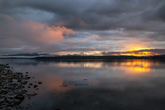 Möbius madness (Explored) (Ramen Saha) Tags: möbius bartlettcove glacierbay glacierbaynationalpark bay sunsetreflections sunset clouds halibutpoint alaska ramensaha water reflection