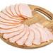 Pork Ham arranged on the wooden board