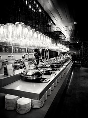 Buffet . (-Faisal Aljunied - !!) Tags: faisalaljunied blackandwhite buffet penang wembleyhotel monochrome