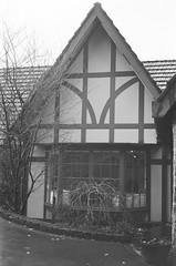 Tatra Receptions (photo 2) (Matthew Paul Argall) Tags: smenasymbol manualfocus 35mmfilm blackandwhite blackandwhitefilm kentmerepan100 100isofilm building architecture