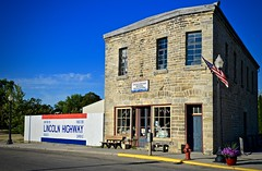 Lincoln Highway National Headquarters - Franklin Grove IL (Meridith112) Tags: summer building texture sign stone illinois nikon highway americanflag august il stonewall stonebuilding lincolnhighway 2019 franklingrove nikon2485 nikond610 lha lincolnhighwayassociation historic 1860 harryisaaclincoln lincoln store drygoods 136nelmstreet newyork999 frisco2390 chicago93 clinton53 elmstreet leecounty limestone