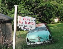 Kentucky Tax Man (oscarpetefan) Tags: oscarpetefan dxo11 on1photoraw on1pics kentucky hillsboro travel filmsimulation velvia50 abandoned olympus omdem5ii zuiko microfourthirds 1240mmf28 explored