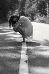 Flexible (marceltesch) Tags: bmw flexible artistic model street streetphotography girl blackandwhite schwarzweis hocken pose canon