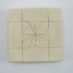 Box with Maltese Cross II (Michał Kosmulski) Tags: origami paperfolding papiroflexia paperart handmade box tessellation maltesecross heraldry art michałkosmulski elephanthidepaper