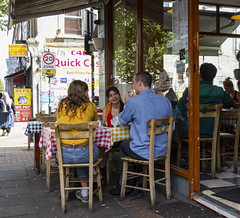 Bethnal Green Market Cafe (London Less Travelled) Tags: uk unitedkingdom britain england london eastlondon street city urban suburban suburb suburbs suburbia towerhamlets bethnalgreen market cafe people
