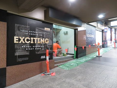 Former Cash Wizard pawn shop being divided into smaller separate tenancies (RS 1990) Tags: adelaide railwaystation southaustralia thursday 22nd august 2019 former cashwizard cashconverters pawnshop fitout