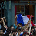 French fans celebrating after France won the World Cup
