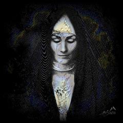 Modest Woman (SØS'Art) Tags: black digitalartwork art kunstnerisk manipulation solveigøsterøschrøder artistic eyes girl modest woman wonam
