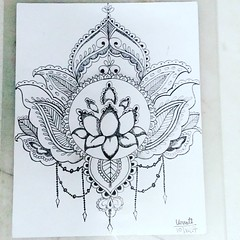 It's Mandal art..  The meaning of the word mandala in Sanskrit is circle. Mandala is a spiritual and ritual symbol in Hinduism and Buddhism, representing the universe. ... Mandalas have many uses apart from meditation as the the designs are meant to remov (unnu2014) Tags: mndalaart art painting artistic mandal
