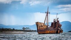 Dimitrios (Ioannisdg) Tags: wreck ioannisdg flickr ship beach gythio valtaki old carcasse sand rust dimitrios shipwreck graffiti ioannisdgiannakopoulos greece lakonia ithinkthisisart