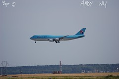 Boeing 747 Korean Air (Starkillerspotter) Tags: korean air jumbo jet boeing 747 hl7633 from seoul incheon south korea aircraft paris cdg airport