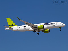 YL-AAR Airbus A220 Air Baltic (@Eurospot) Tags: ltai antalya airbaltic cs300 bombardier airbus a220 ylaar