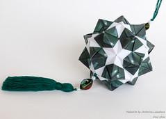 Malachite by Ekaterina Lukasheva (irina_chisa) Tags: kusudama origami оригами кусудама