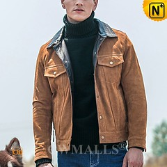 Sydney Men Suede Cowhide Leather Jacket CW818303 | CWMALLS.COM (cwmalls2018) Tags: suede cowhide leather jacket men custommade cowboy outerwear bomber fashion shopping