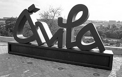 Avila Sign (David Gange) Tags: avila castilla leon sign sony a7 2870mm lensblack white