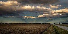 lovely anti crepuscular rays on the Canterbury Plains.NZ (ndoake) Tags: