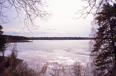 Hometown lake (Igor Verkhovskiy) Tags: konica big mini 35mm film fujifilm filmforlife filmnotmegapixels filmfeed filmnotdead analogcamera analogfeatures russia siberia krasnoyarsk natural light streetphotography street photography photographersinrussia frozen hometown lake