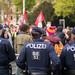 Österreichische Polizei bei einer Demo in Wien