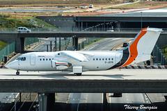[ORY] JOTA Aviation British Aerospace Avro RJ85 _ G-JOTR (thibou1) Tags: thierrybourgain ory lfpo orly spotting aircraft airplane nikon d810 tamron sigma jotaaviation britishaerospace avrorj85 bae146 gjotr taxiing aigleazur oran