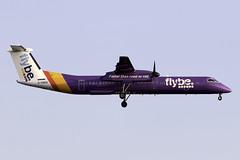 flybe Dash 8 Q400 G-PRPE at London Heathrow LHR/EGLL (dan89876) Tags: flybe de havilland canada dash 8 q400 dh8d gprpe london heathrow international airport landing runway 27l lhr egll