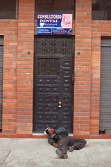 I know it can hurt at the dentist - but this? (klauslang99) Tags: klauslang streetphotography dentist cuenca ecuador drunken man drunk