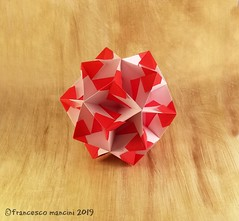 Arabesque (mancinerie) Tags: origami paperfolding papiroflexia papierfalten paper francescomancini mancinerie modularorigami polyhedra geometry carta cartapiegata