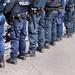 Polizeiabsperrung bei einer Demo