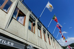 Flags @ Flaine Forum @ Resort @ Flaine @ Hike to Désert de Platé (*_*) Tags: 2019 summer ete august afternoon hiking europe france hautesavoie 74 savoie loop circuit mountain montagne nature randonnee trail sentier walk marche giffre désertdeplaté flaine skiresort stationdeski art architecture brutalism concrete faucigny beton marcelbreuer