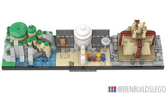 "Lego Star Wars - ""The Phantom Menace"" Skyline MOC (3) (BenBuildsLego) Tags: lego star wars cool skyline architecture legos phantom menace george lucas naboo coruscant tatooine podracers podracer design toy toys benbuildslego nostalgia palace castle micro microscale scale jedi temple"