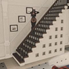 Good morning! (Aksanka93Resident) Tags: villa sunny lombardia elfico penso gacha amazing cozy white mansion best manor italia chic swank sense event second life 3d wood dark stairs pictures