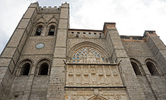 Avila Cathedral front from below (David Gange) Tags: avila cathedral spain castilla leon catholic sony a7 2870mm lens