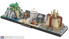 "Lego Star Wars - ""The Phantom Menace"" Skyline MOC (2) (BenBuildsLego) Tags: lego star wars cool skyline architecture legos phantom menace george lucas naboo coruscant tatooine podracers podracer design toy toys benbuildslego nostalgia palace castle micro microscale scale jedi temple"