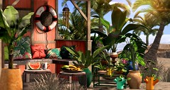 Summer hideout (Alexa Maravilla/Spunknbrains) Tags: littlebranch secondlife kustom9 shinyshabby thor studioskye blog blogger home landscaping trees plants fruit tropical 3dmesh palms digitalphotography digitalart virtual world