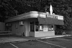 Bailey's (terrylw64) Tags: dairybar nikon z7 hotsprings arkansas usa driveup on1 on1photoraw2019 monochrome blackwhite nostalgic