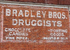 IN, Wabash-IN 15 Bradley Bros. Druggists Wall Sign