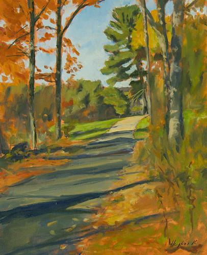 Spencer road, oil on panel