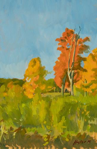 Muir Meadows, oil on panel