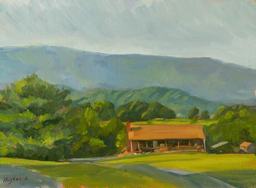 Emerald Ridge, Crozet, VA. oil on panel