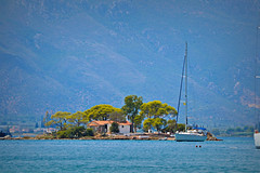 treasure island (Love me tender ♪¸.•*´¨´¨*•.♪¸.•*´) Tags: island poros saronic greece sailing boats trees church summer travel vacation dimitrakirgiannaki photography nikond3100
