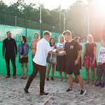 Liepājas pludmales volejbola un tenisa līgas pludmales tenisa turnīra kopvērtējuma uzvarētāju apbalvošana. 21.08.2019. Foto: Mārtiņš Vējš