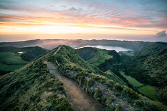Stairway to Heaven (Fabian Fortmann) Tags: sunset landscape burning sky vacation europe azores azoren boca do inferno path trail vulcano