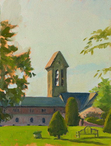 St. Josephs Abbey, oil on panel
